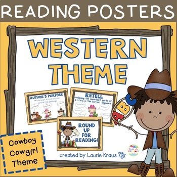Western Theme / Cowboy Cowgirl - Reading Posters