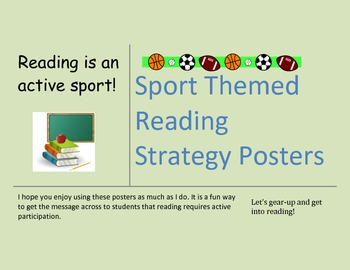 Reading Posters Sports Themed