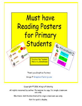 Reading Posters for Primary Students Bundle