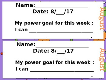 Reading Power Goal Sheets for the ENTIRE Year... Editable Version