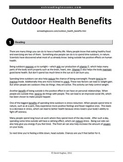 Reading Practice: Outdoor Health Benefits