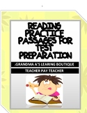 Reading Practice Passages For Test Preparation