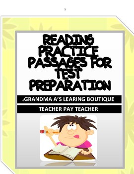 Reading Practice Passages For Test Preparation