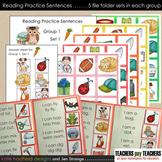 Reading Practice Sentences BUNDLE - Groups 1, 2, and 3