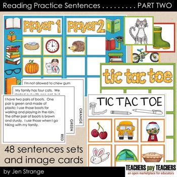 Reading Practice Sentences: PART TWO