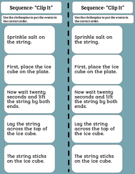 Reading Practice- Sequence