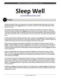 Reading Practice: Sleep Well