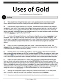Reading Practice: Uses of Gold