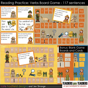 Reading Practice - Verbs Game (Helping Verbs and Inflectional Endings)