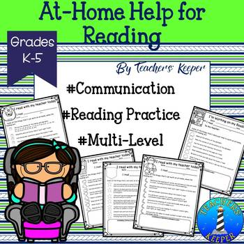 Reading Practice at Home Communication Forms