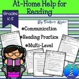 Reading Practice at Home Communication Forms: Distance Learning