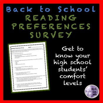 Back-to-School Reading Preferences Survey