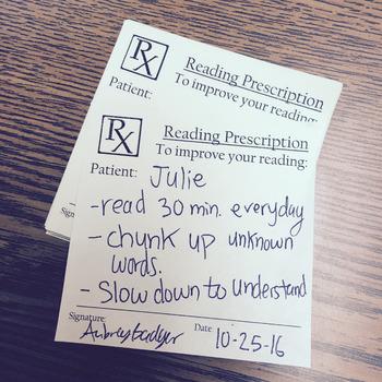 Reading Prescription Sticky-Notes