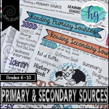 Primary And Secondary Sources Activities Teaching Resources