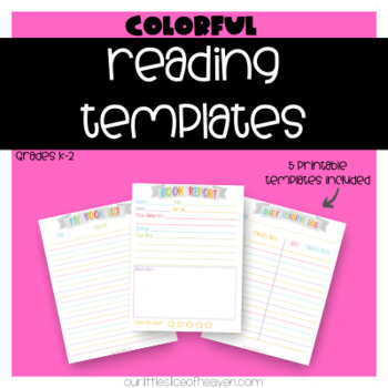Reading Printable Bundle - Writing Prompt, Book List, Reading Log, Book Report