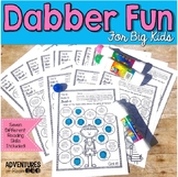 Reading Printables with a DAB of Fun!