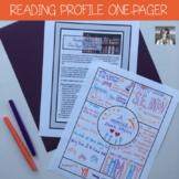 Reading Program Kickstart: One Pager Reading Profile