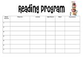 Reading Program Planning Template