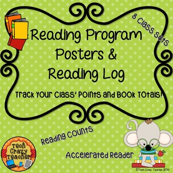 Reading Program Posters and Reading Log: Reading Counts, A