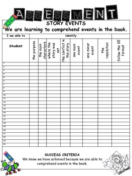 Reading Program - Story Events