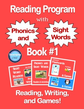 Reading Program with Phonics and Sight Words: Book #1