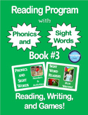 Reading Program with Phonics and Sight Words: Book #3