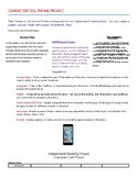 Reading Project - Character Cell Phone - Use w/ any fictio