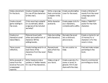 Reading Project Squares +