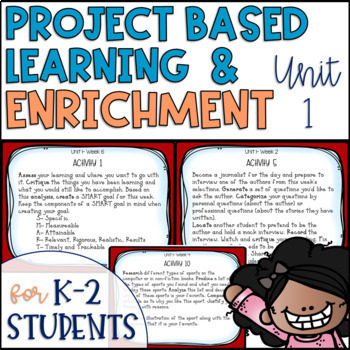 Reading Project-based Learning and Enrichment {Unit 1}