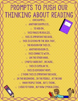 Reading Prompts Poster and Cards