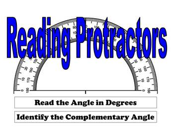 Reading Protractors - Complementary Angles