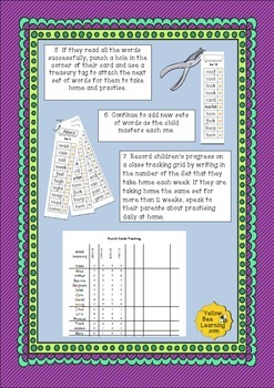 Reading Punch Cards - Phase 3 Words for Blending