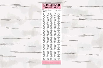 Reading Punch card Bookmark - 100 book challenge