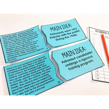 Reading Puzzles Bundle | 4th and 5th Grade Reading Centers
