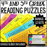 Reading Puzzles   4th & 5th Grade Digital Reading Centers - Distance Learning