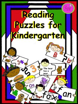 Reading Puzzles for Kindergarten