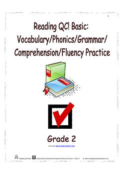 Reading QC! Basic: Vocab./Phonics/Grammar/Comprehen./Fluency Practice - Grade 2