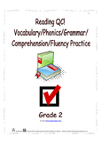 Reading QC! Vocabulary/Phonics/Grammar/Comprehension/Fluency Practice - Grade 2