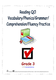 Reading QC! Vocabulary/Phonics/Grammar/Comprehension/Fluency Practice - Grade 3
