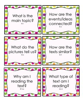 Reading Question Cards