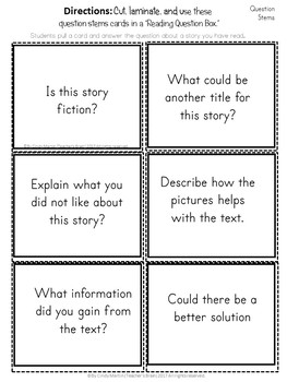 Reading Question Stems