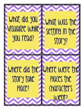 Reading Questioning Cards-CCSS