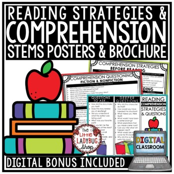 Reading Strategies Posters & Reading Strategy Stems