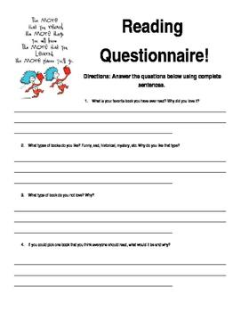 Reading Questionnaire