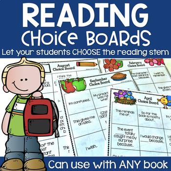 Reading Stem Choice Boards