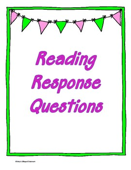 Reading Questions STAAR Aligned