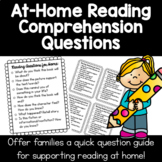 Reading Questions for Home Connection | Kindergarten