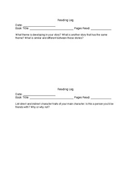Reading Questions for Silent Sustained Reading
