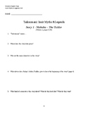"""Reading Questions for """"Taiksumani"""" Volumes 1 & 2"""