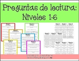 Reading Questions in Spanish